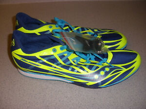 SAUCONY Velocity Women's Track and Field Shoes S19019-3 Size 11 BLUE YELLOW