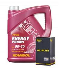 Mannol 5W30 Long Life Engine Oil + Oil Filter Fit BMW 5/6/7 - X5 X6 X3 Series 5L