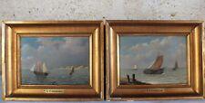Coomans (1855-1896) 2 peintures 19ème marine