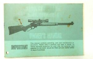1975 Vintage Owners Manual for Marlin  336C,336T,336A,444S,1894,1895
