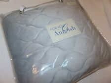 For you by Ann Gish Queen Velvet Coverlet Sky Blue Grey NEW