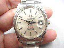 TITUS DATE STAINLESS STEEL SWISS 25 JEWELS 2824 AUTOMATIC MEN WATCH