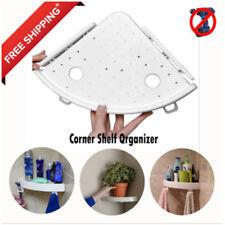 Bathroom Triangular Shower Shelf Corner Bath Storage Holder Organized Rack`