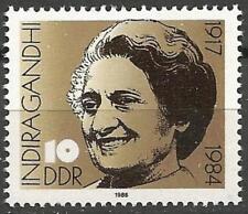 Germany (East) DDR 1986 MNH - Death Anniv Indian Prime Minister Indira Gandhi