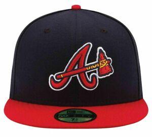 MLB Atlanta Braves New Era Authentic On Field 59FIFNewTY Fitted Cap Hat Headwear