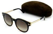 ea43e379c23 NEW Genuine TOM FORD JANINA Black Gold Havana Sunglasses TF 435 FT 0435 01K
