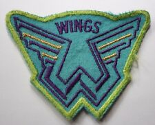 THE WINGS Old/Vtg 1970`s Shaped Embroidered Patch Paul McCartney not badge lp cd