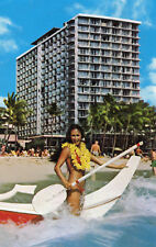 postcard USA   Honolulu Hawaii Outrigger Hotel   unposted