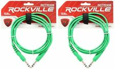 2 Rockville Rctr106G Green 6' 1/4'' Trs to 1/4'' Trs Cable 100% Copper