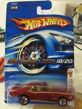 Hot Wheels '69 Pontiac GTO #018 2005 First Editions Red