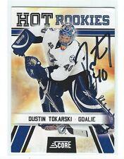 Dustin Tokarski Signed 2010/11 Panini Hot Rookies Card #514