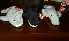 Ty Beanie Babies Flash 4021 , Splash 4022 , Manny 4081 Whale, Dolphin, Manatee