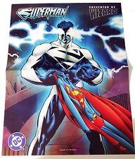 Superman Poster Wizard Magazine Vtg 1997 90's DC Comics Exclusive calendar