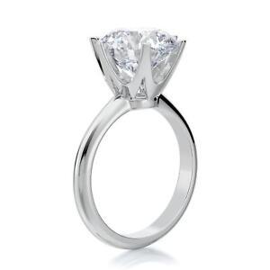 3 CARAT E VS1 ROUND CUT DIAMOND SOLITAIRE ENGAGEMENT RING 14K WHITE GOLD