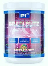 P1N Phase One BRAIN BLITZ Ultra Premium Pre-Workout Energy + Mood, 25 Servings