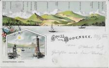 Gruss vom Bodensee Litho 1900 Lindau Moch&Stern Felle