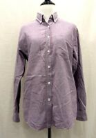 Cabin Creek Womens Purple Long Sleeve Button Collar Button Front Shirt S