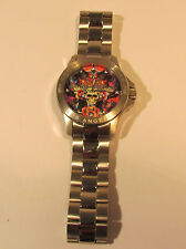 Christian Audigier Watch ETE-107 Eternity Skulls and Roses Los Angeles