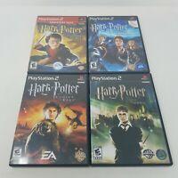 Harry Potter Playstation 2 Lot of 4 Games Chamber, Prisoner, Goblet, Order, PS2