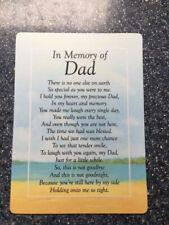 Dad Waterproof Memorial Grave Card Graveside Remembrance Poem Grave Keepsake