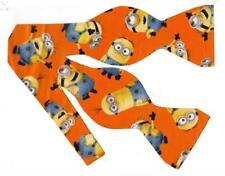 Cartoon Bow tie, Yellow henchmen on Orange-Birthday Smash Cake, Self-tie Bow tie