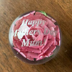 Rose Paperweight Small