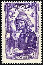 FRANCE COIFFE DE BRETAGNE   TIMBRE NEUF N° 594  **  MNH 1943  B4