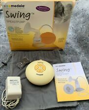 Medela-Swing Single Electric Breast Pump w/ Power Supply Accessories and Bottles