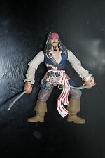 Pirates Caribbean POTC Sword Slashing Jack Sparrow FIGURE Dead Mans Chest Zizzle