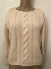 Maria Di Ripabianca 100% Cashmere 3-py Ivory Sweater Size 10