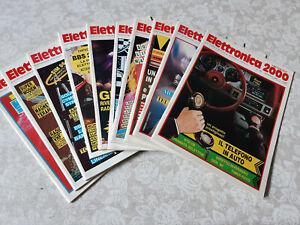 Elettronica 2000 collezione ANNI 1982-86-87-91-94 riviste in buono stato