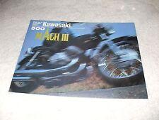 """Vintage 1971 Kawasaki 500 Mach III Sales Brochure """"Widow Maker"""""""