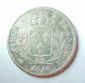 LOUIS XVIII  5 francs 1814 I  Limoges