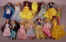 """Vintage Disney 13 Princess Dolls 7"""" vinyl toys 1990's Mattel Doll Lot #2"""