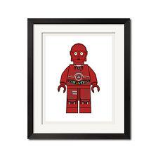 Lego Star Wars TC-4 Minifigure Pop Art Poster Print