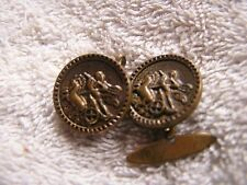 Antique Cufflinks with Horse Drawn Carriage