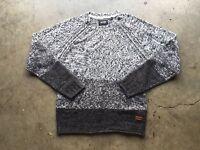 Only & Sons Ben Crew Knit Sweater sz XL Gray Dark Spruce