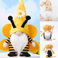 World Bee Day Gnome Ornaments Toy Plush Faceless Doll Home Farm Kitchen Decor