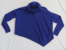 Eileen Fisher Poncho Turtleneck Sweater-Ultrafine Merino-Violet-Size PS-NWT $278