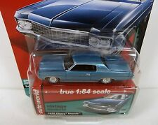 Auto World Vintage Muscle 1970 Chevy Impala Blue 1:64 Diecast-NEW