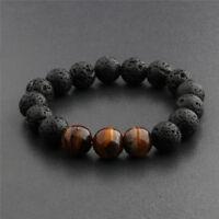 1Pc Essential Oils Diffuser Bead Bracelet Lava Rock Eye For Women Men FG