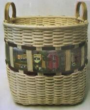 Basket Weaving Pattern Row Houses Basket by Marilyn Wald
