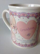 Precious Moments Grandma Mug Cup 1994 White Pink