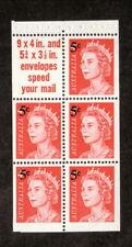 Australia-#398a Mnh Booklet Pane-1967 Queen Elizabeth