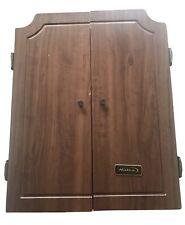 Vintage Halex Electronic Hanging Deluxe Wood Cabinet Dart Board Not Working