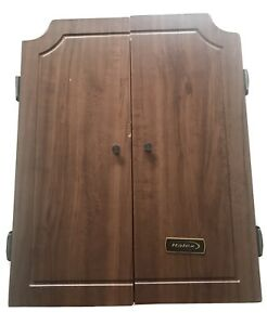 Vintage Halex Electronic Hanging Deluxe Wood Cabinet Dart Board Not Working