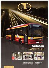 Autosan Sancity 9LE City Bus 2010-12 UK Market Single Sheet Sales Brochure