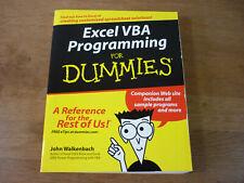 Excel VBA Programming for Dummies John Walkenbach John Wiley PB 2004