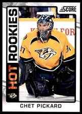 2012-13 Score Hot Rookies Chet Pickard #537