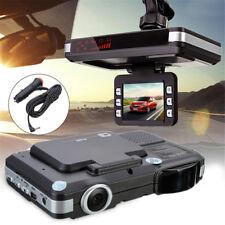 720P 2in1 Car Dash Dashboard DVR Camera Laer Radar Speed Recorder Rear View Cam